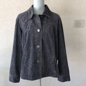 Chico's Lavender Corduroy Jacket 3 or XL